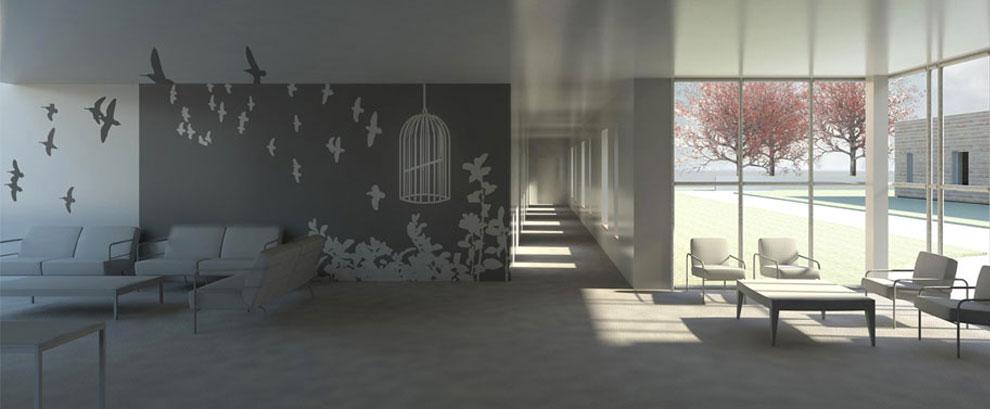 Progetto della sala svago della Casa Famiglia